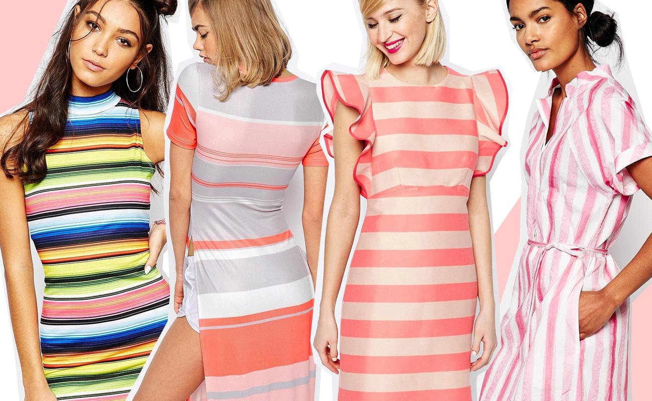 Vestiti a righe multicolore per la primavera: un arcobaleno di colori!