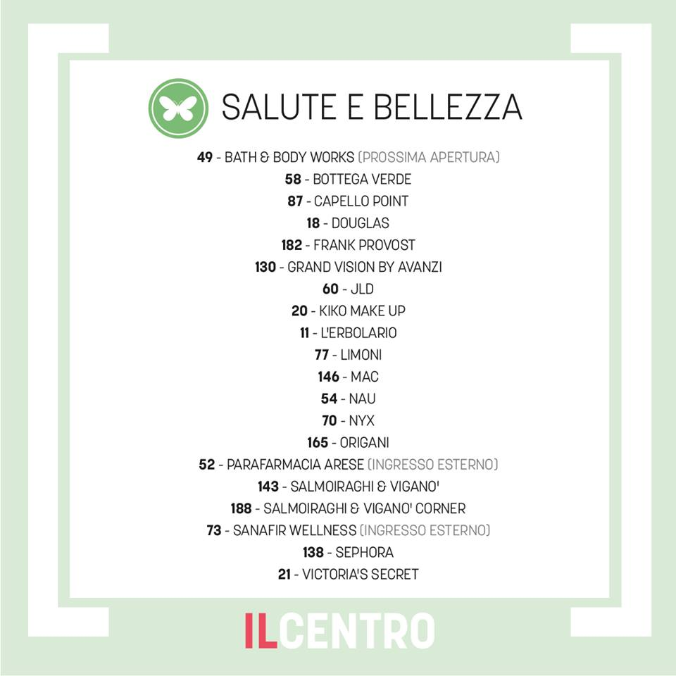 arese shopping center il centro negozi salute bellezza make-up