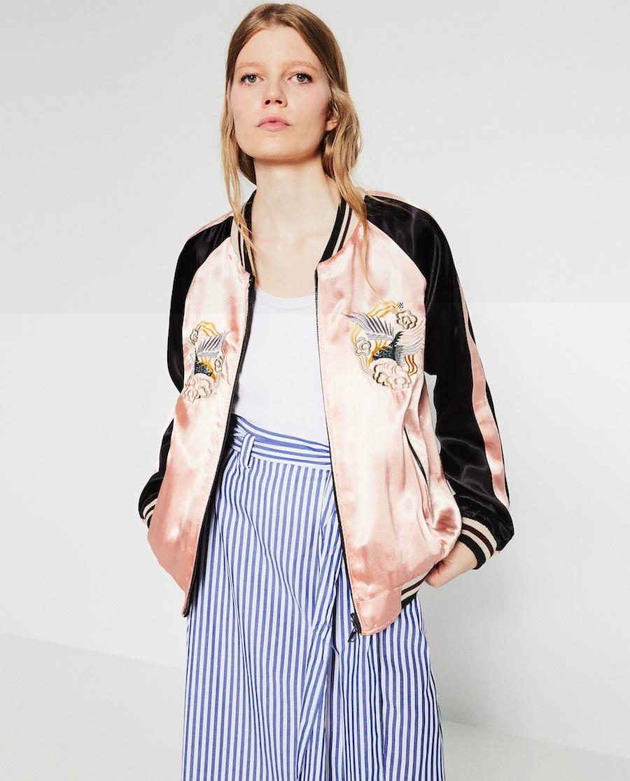 Love it, want it: il bomber rosa ricamato di Zara