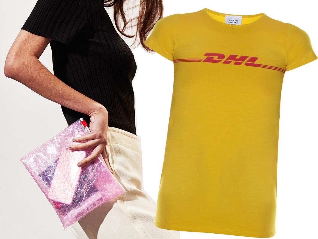 """La t-shirt DHL e l'estetica del """"corriere"""", la nuova mania delle IT girl"""