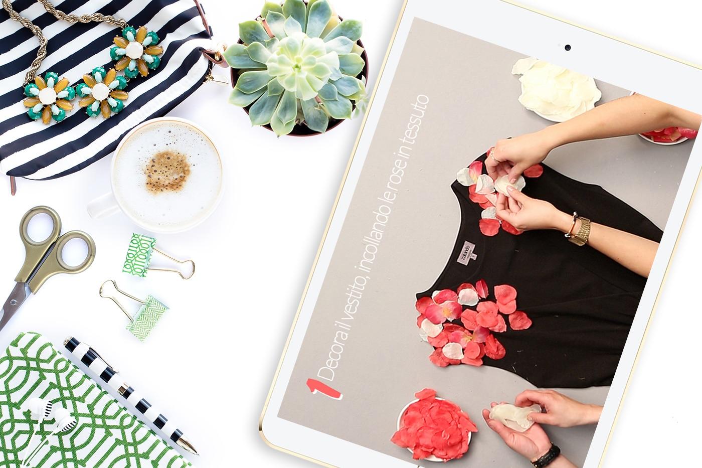 Zalando DIY: come decorare una abito con rose in 3D (tutorial)