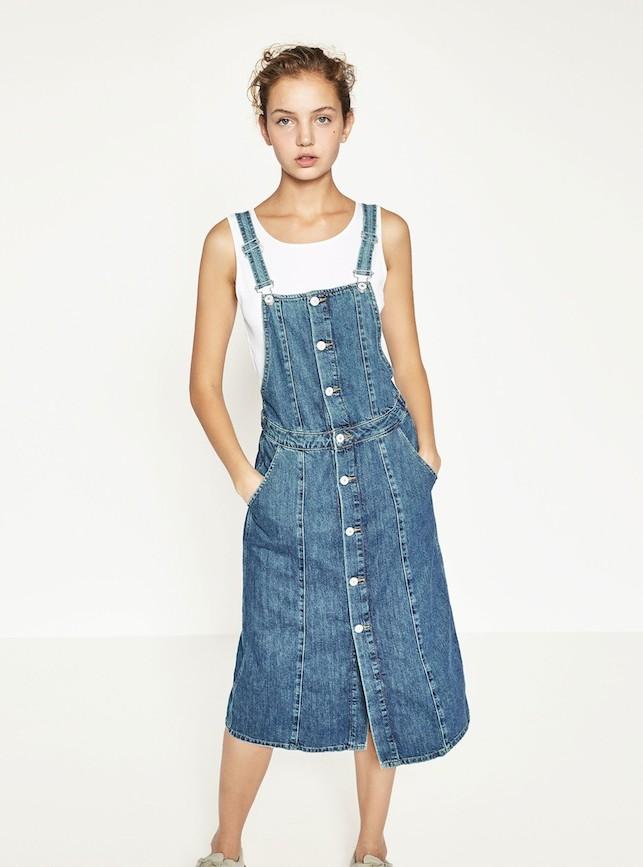 Vestito salopette in denim con i bottoni, 11 proposte per il tuo shopping