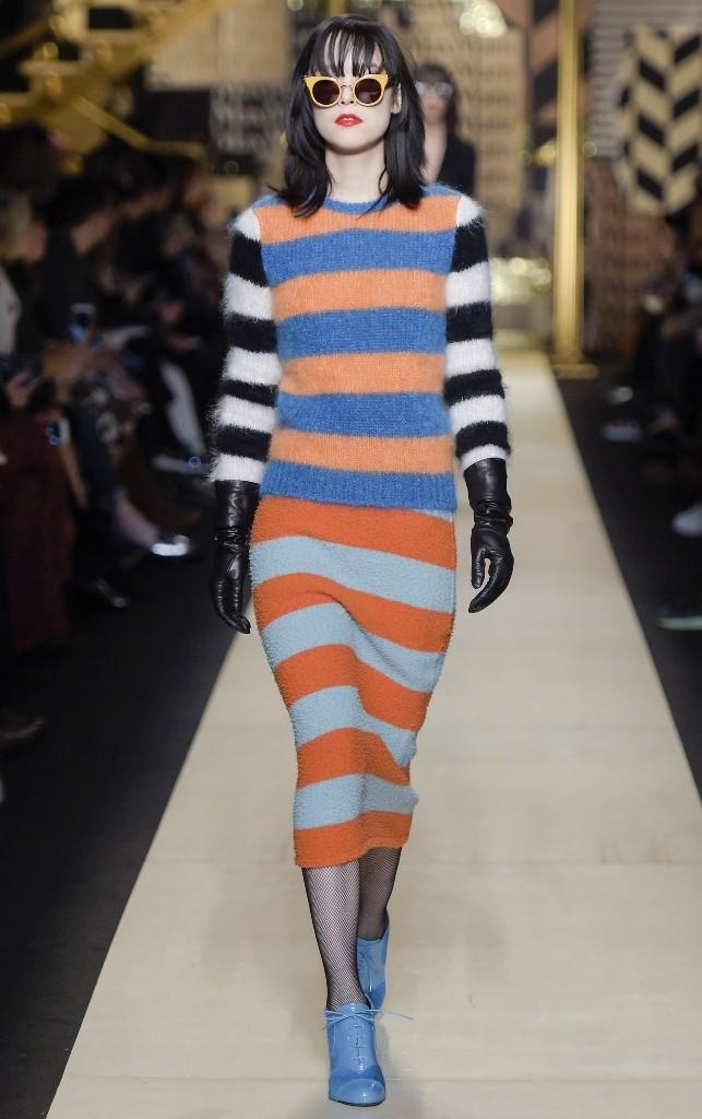 Tendenze moda per l'autunno/inverno 2016-2017: righe colorate
