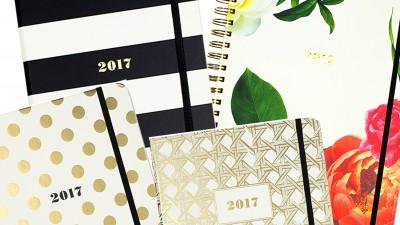 Agende e planner 2017 chic e femminili per celebrare l'inizio del nuovo anno