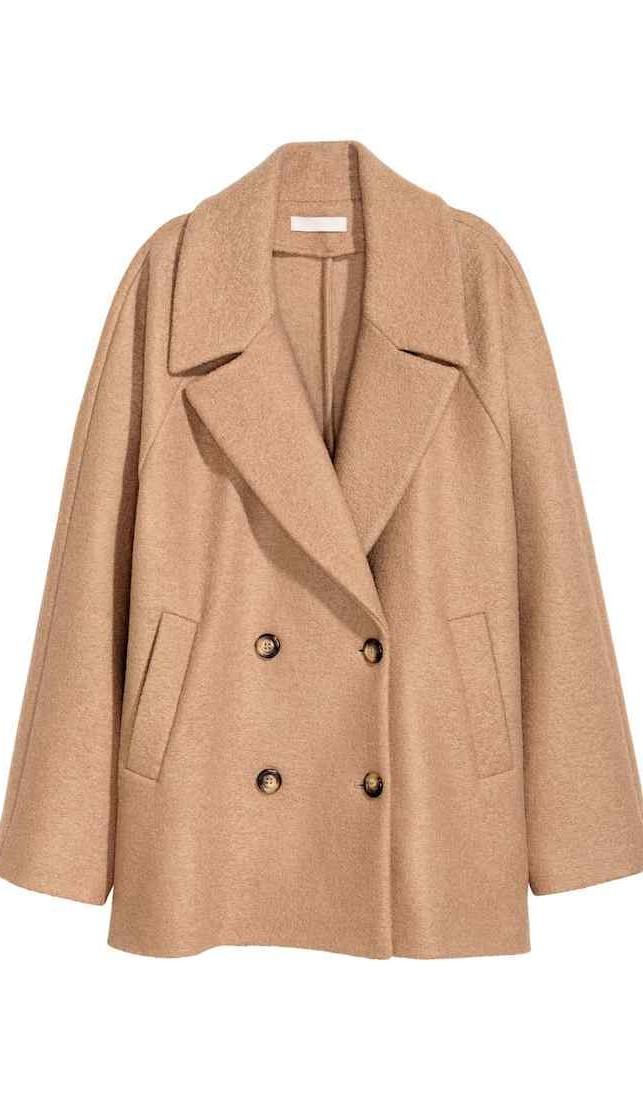 H&M Premium Quality: camel coat