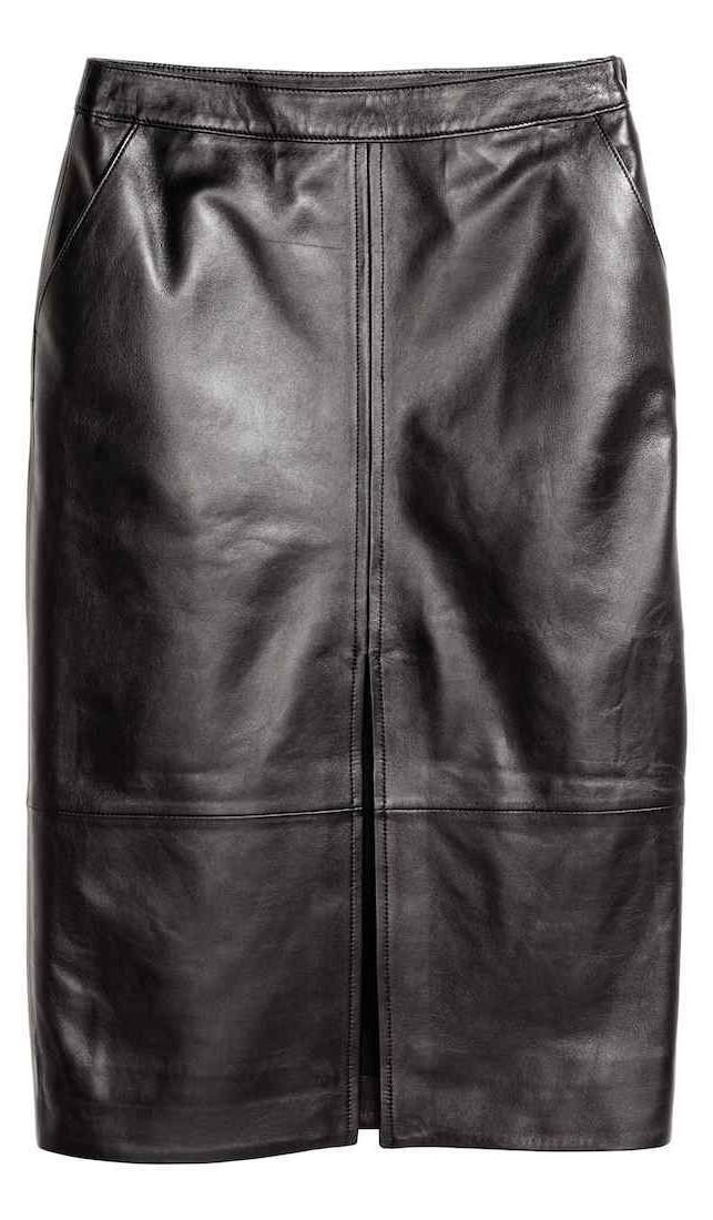 H&M Premium Quality: Gonna a tubino in pelle