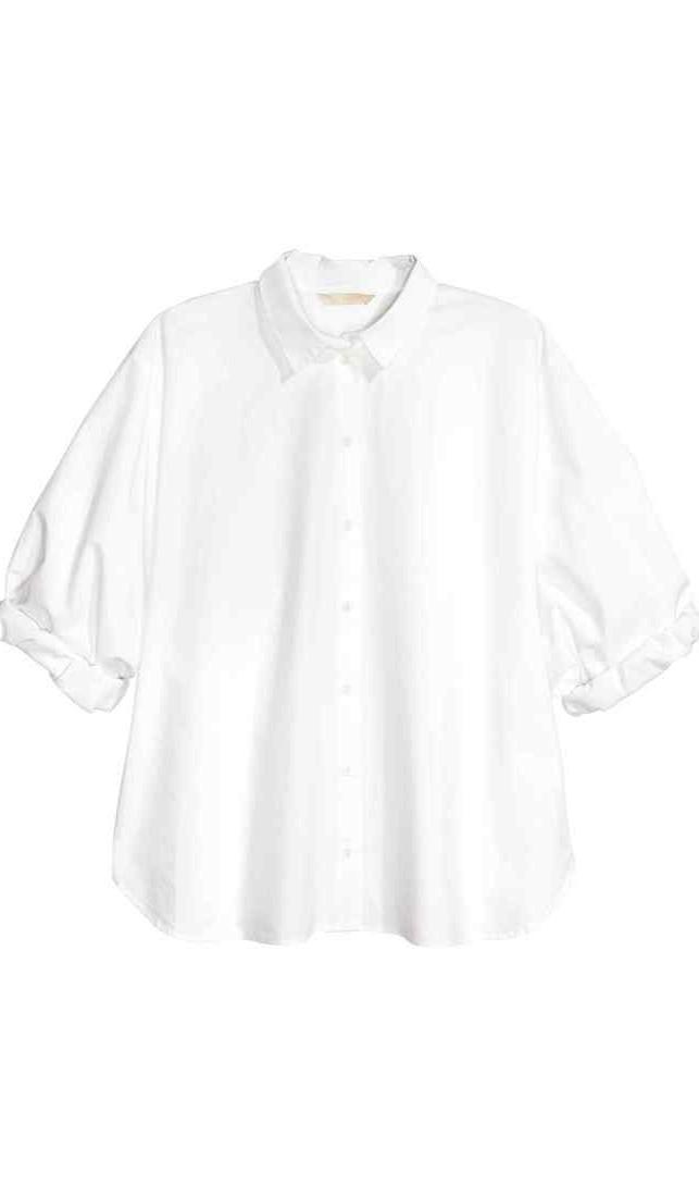 H&M Premium Quality: Camicia ampia cotone