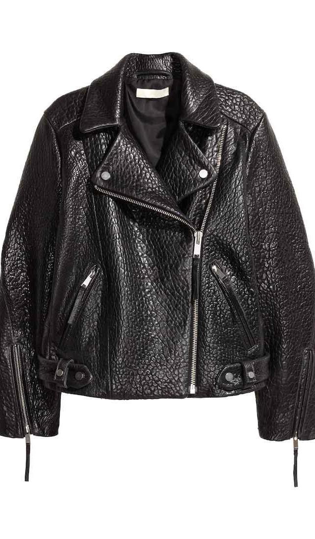 H&M Premium Quality: Giubbotto biker in pelle