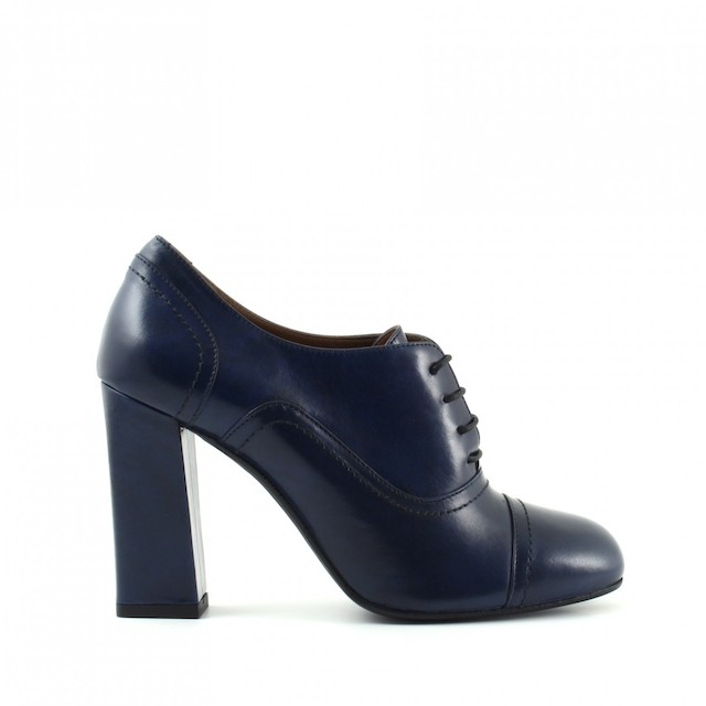 francesine scarpe pelle blu