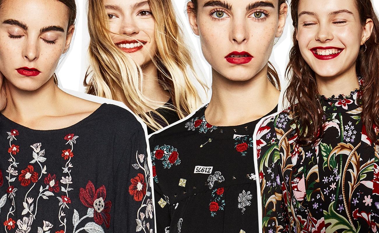 Vestiti a fiori scuri: anche per l'inverno 2016 è flower power