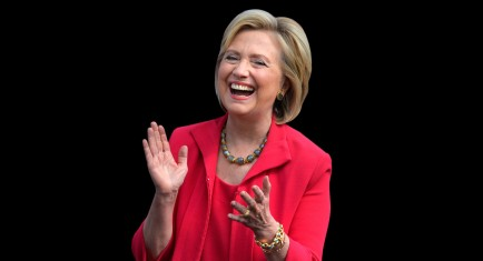 hillary clinton tailleur rosso