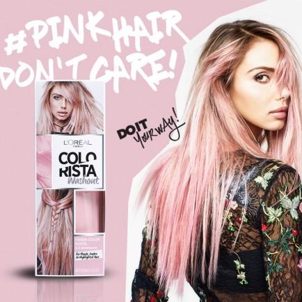capelli rosa tinta fai da te colorista l'oreal