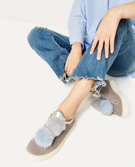 scarpe pom pom zara