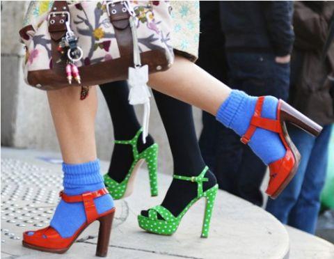 calzini di moda colorati