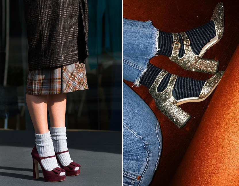 calzini scarpe basse