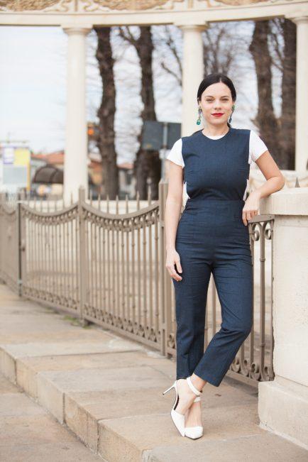 come indossare la tuta elegante