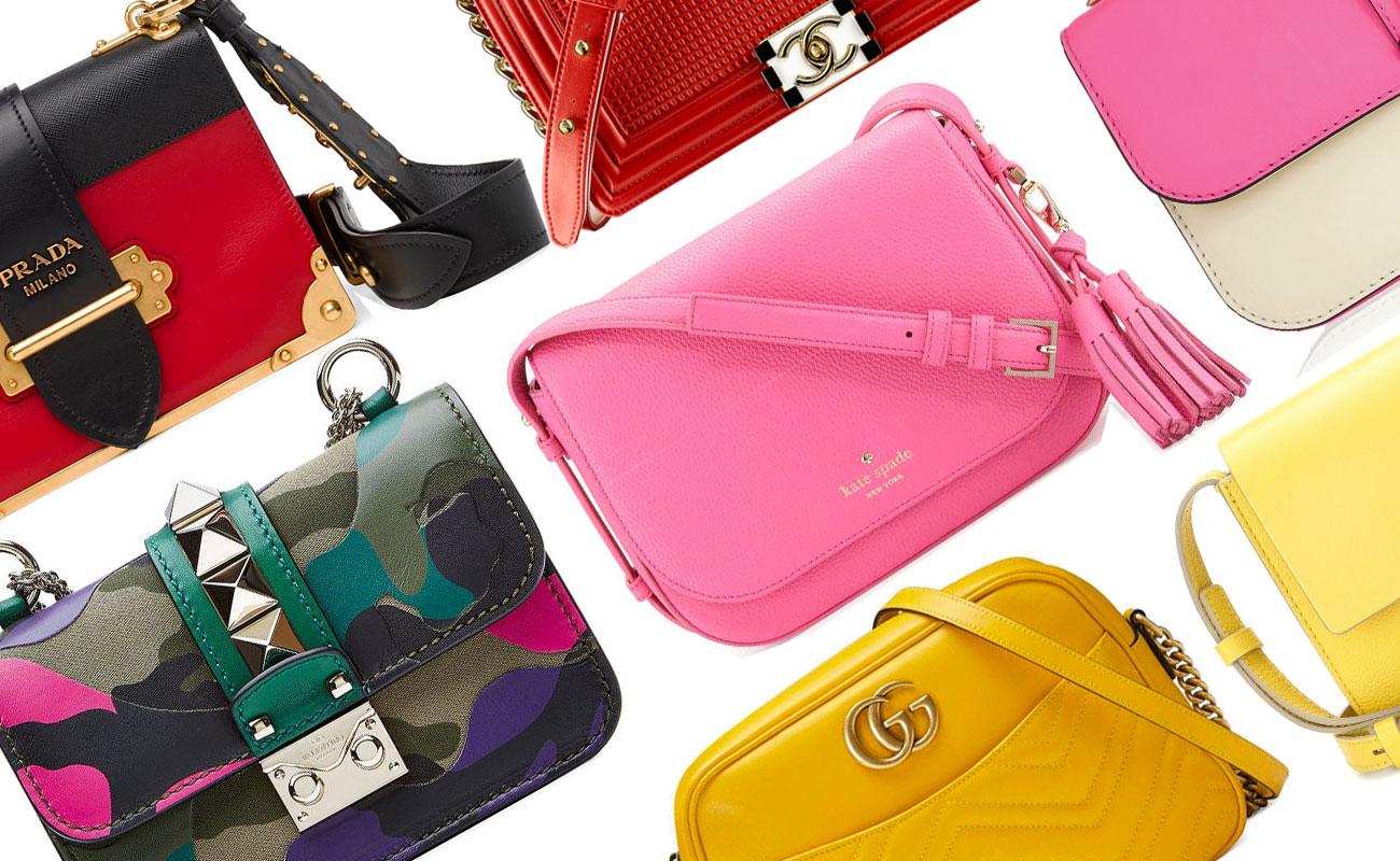 Borse a tracolla in colori vivaci: accessori in technicolor!