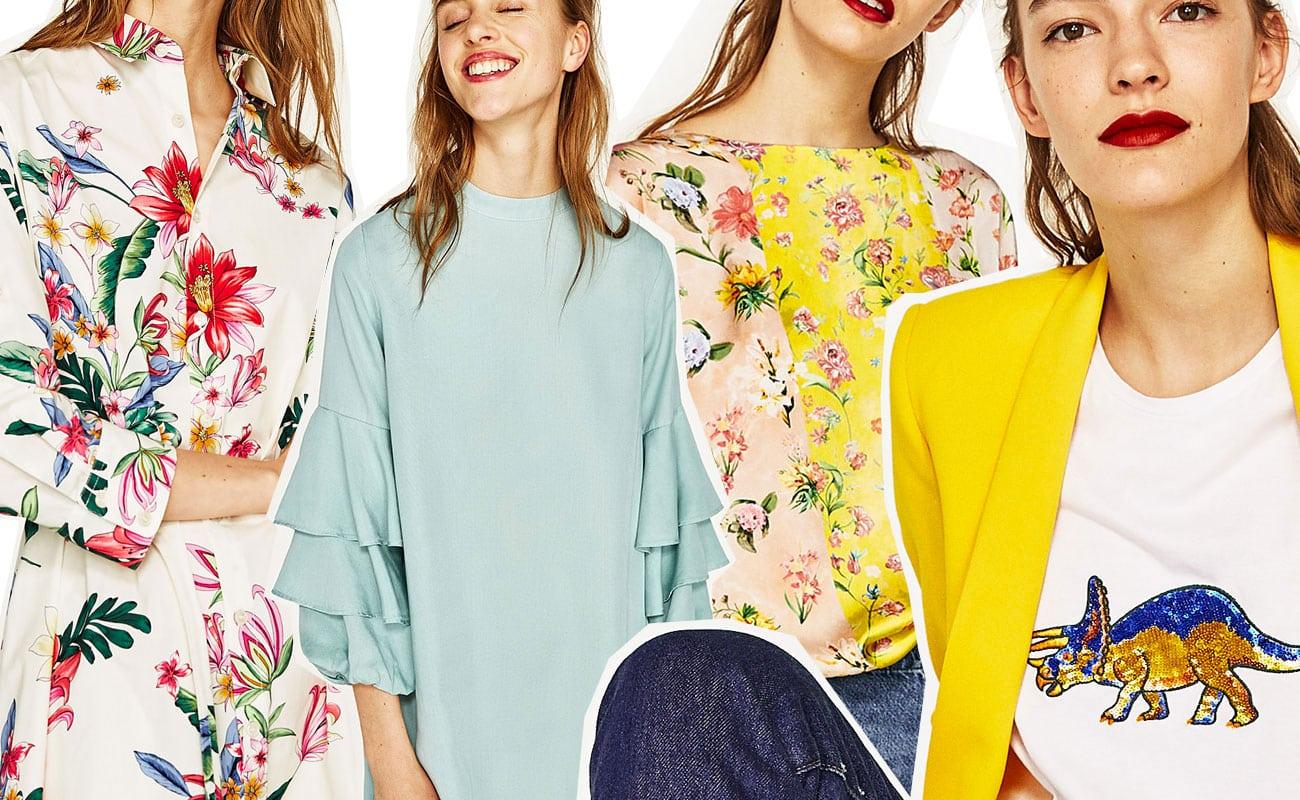 Zara: i nuovi arrivi per l'estate 2017 fra vestiti flower pop, dinosauri e palme