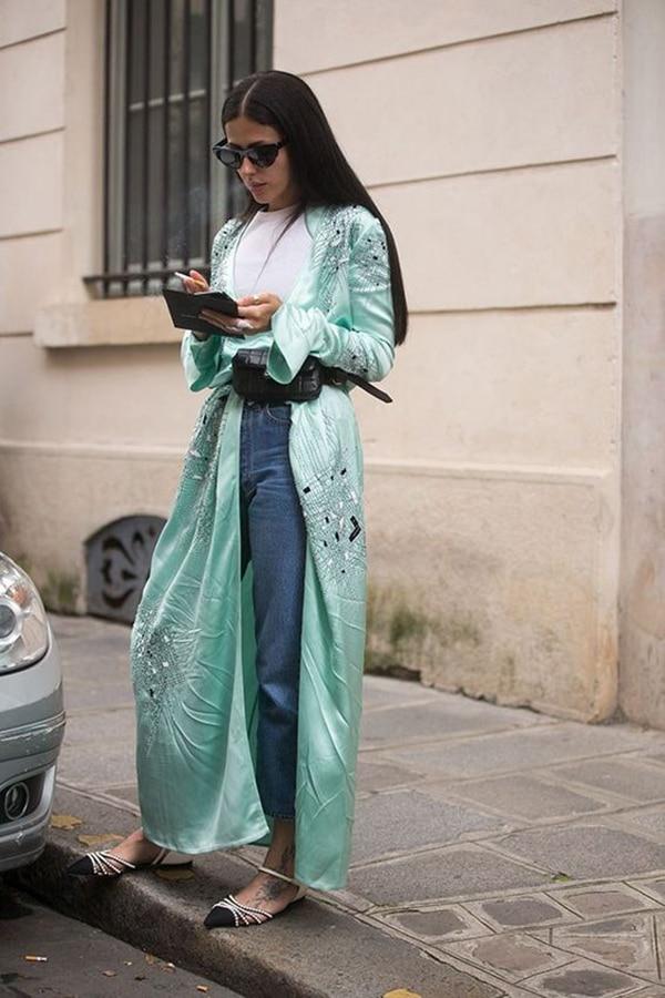 Kimono e jeans