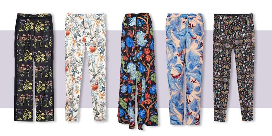 printed pants dress