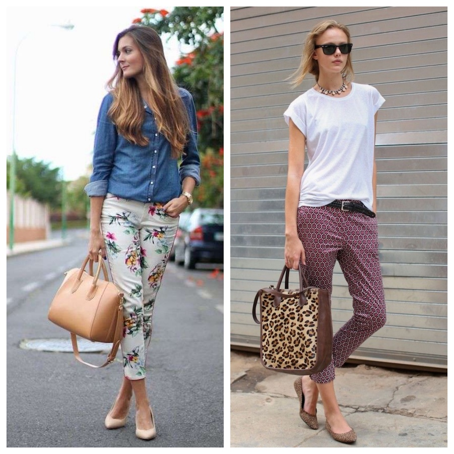 printed pants outfit