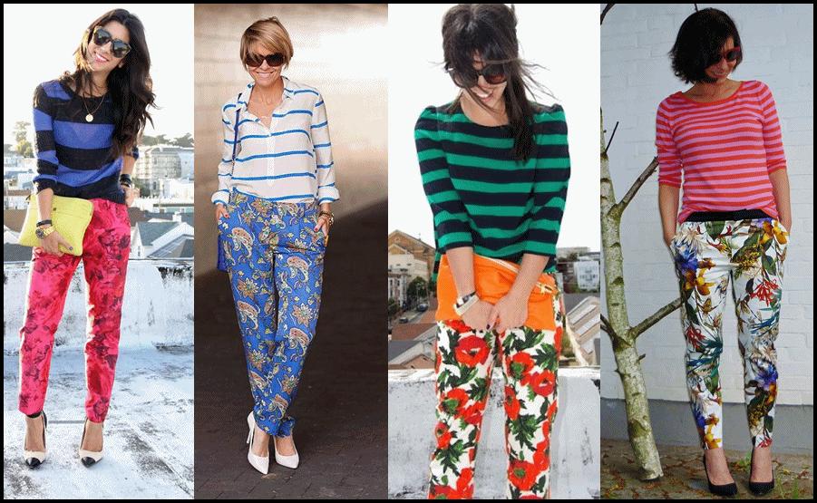 printed pants trend