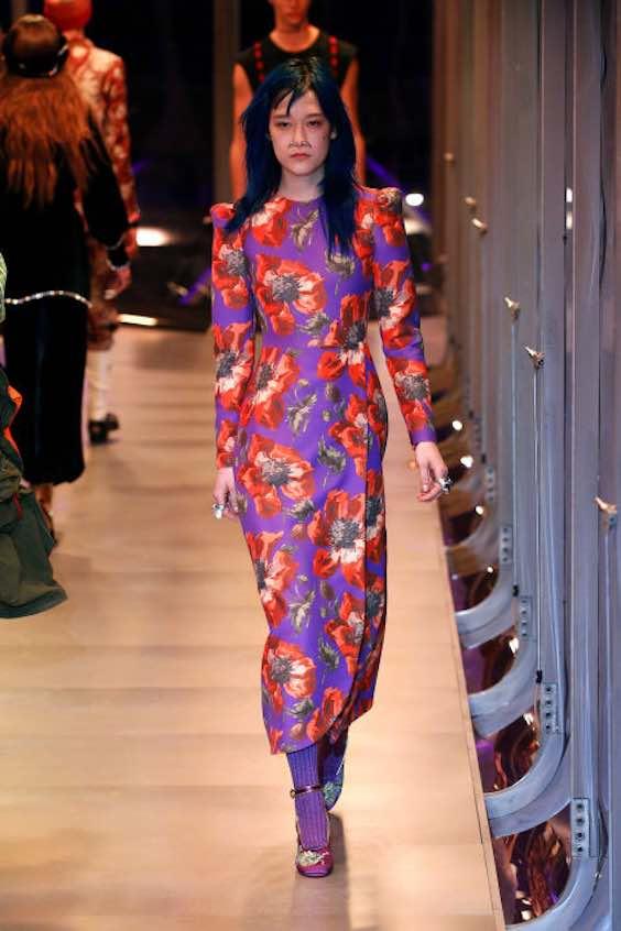tendenze moda inverno 2017/2018 fiori 1