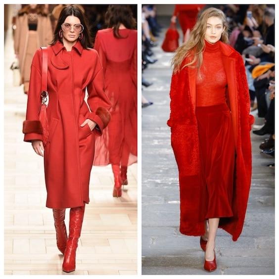 tendenze moda inverno 2017/2018 rosso 2