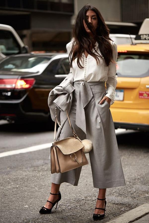Pantaloni culotte e blusa
