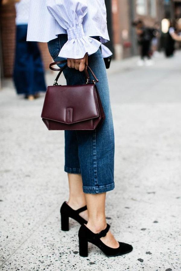 Jeans e tacchi alti