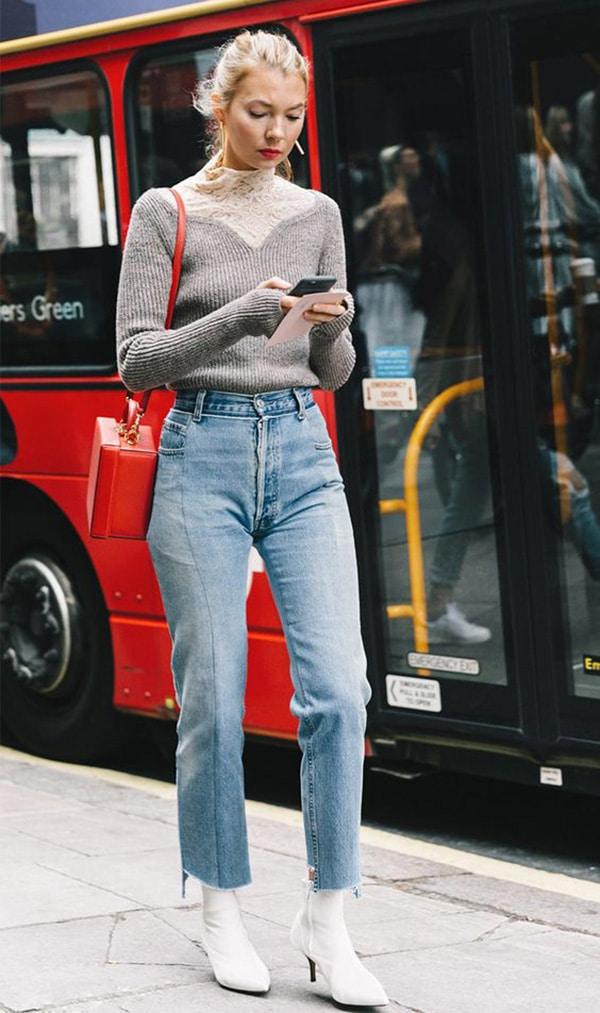 Jeans e stivaletti