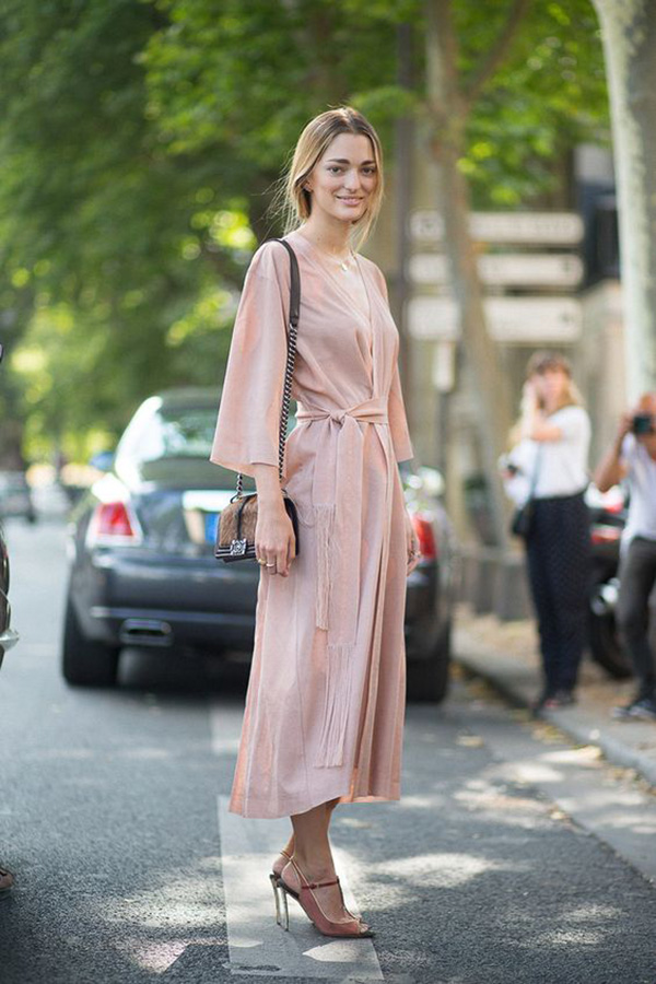 Wrap dress rosa