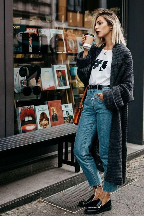 Jeans e mocassini