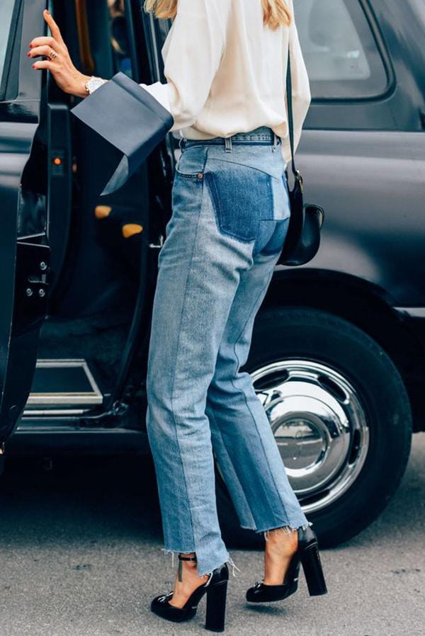 Jeans e décolleté