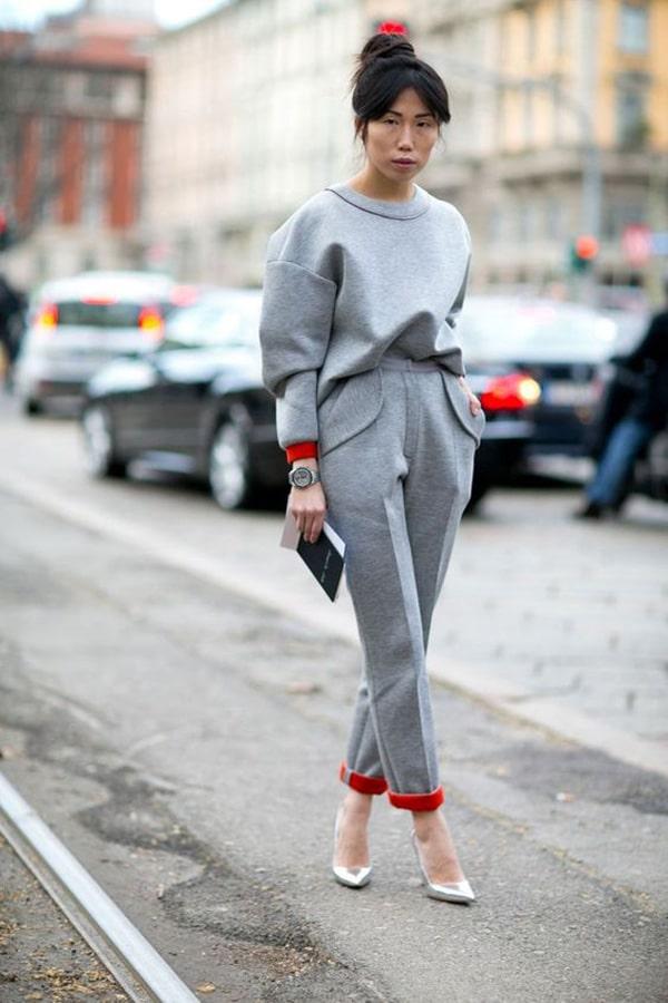 Total look grigio