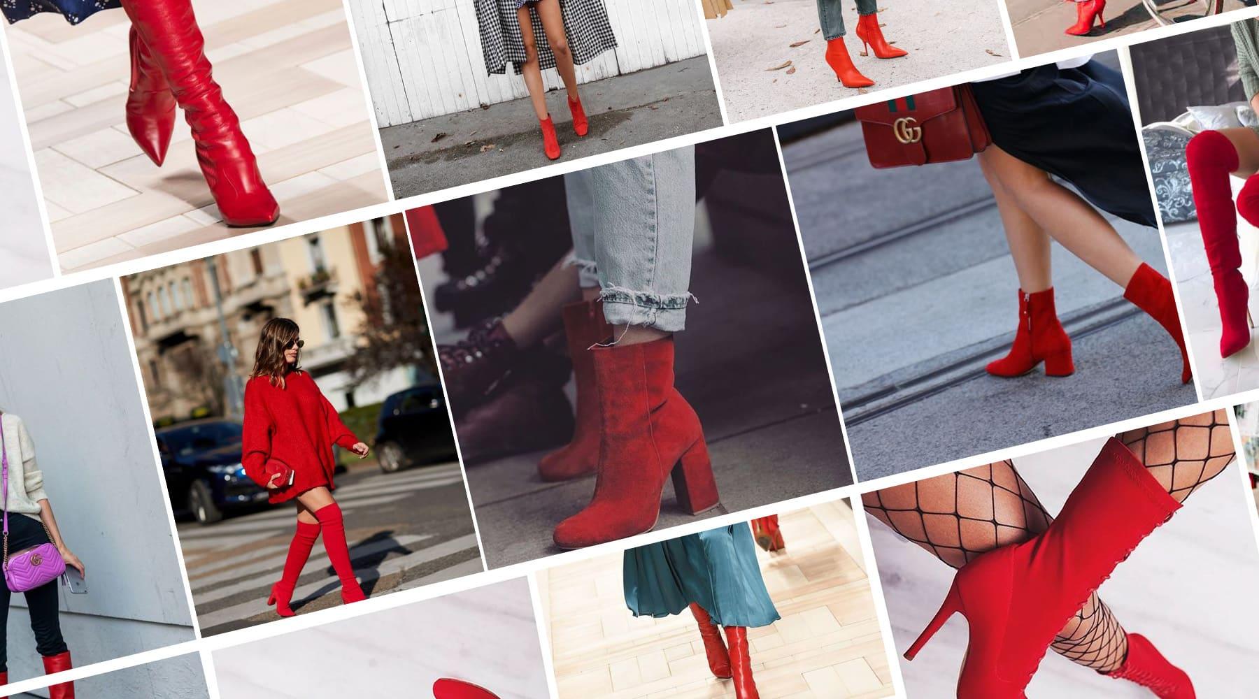 Stivali e stivaletti rossi, le scarpe che hanno invaso i feed di Instagram