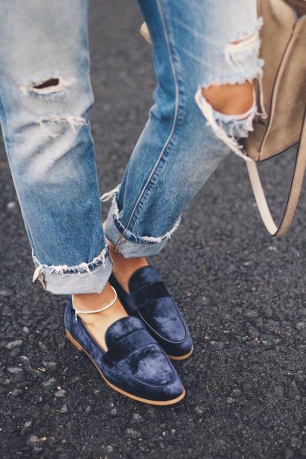 Loafer di velluto