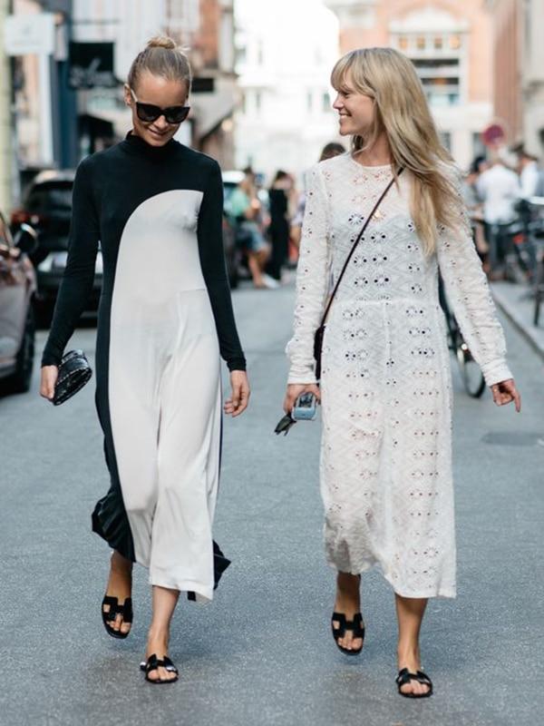 Maxi dress e flat