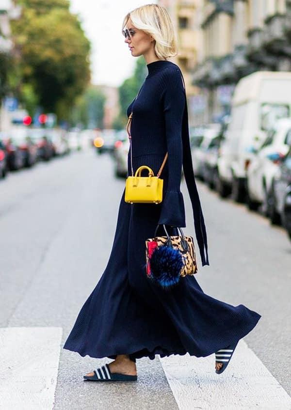 Mini bag gialla a tracolla
