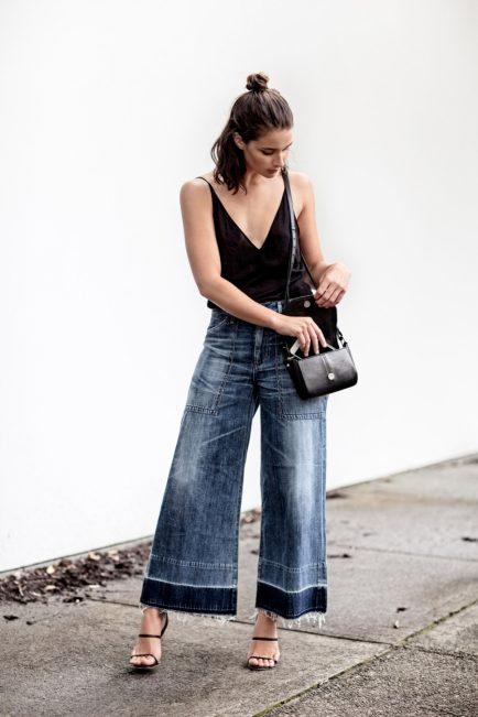 jeans gamba larga