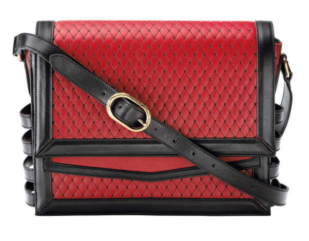 Christian Louboutin Farida Messenger Matelasse Red Black