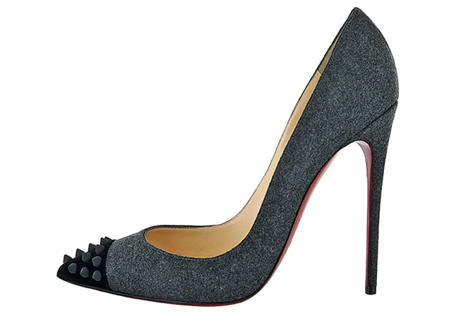 Christian Louboutin Geo Pump 120 Black Floque