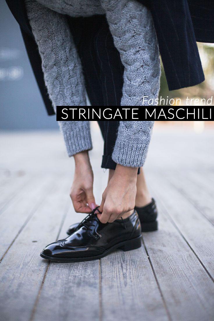 Trend scarpe autunno 2014  stringate di ispirazione maschile 15230f1a1ee