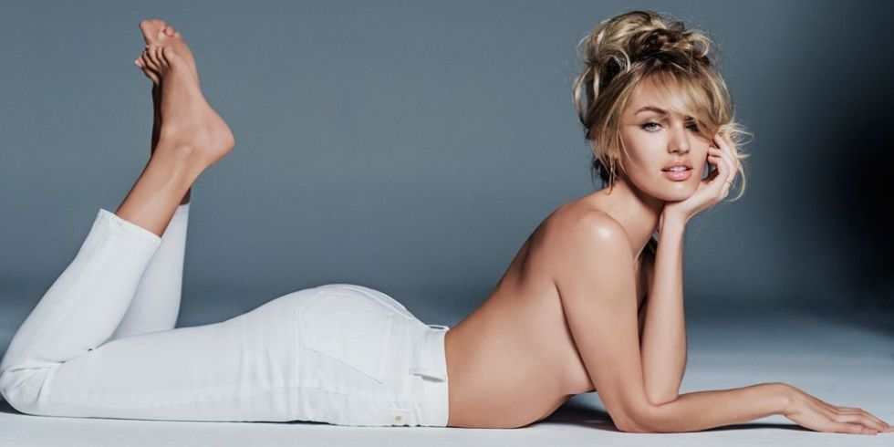 candice swanepoel per mother denim