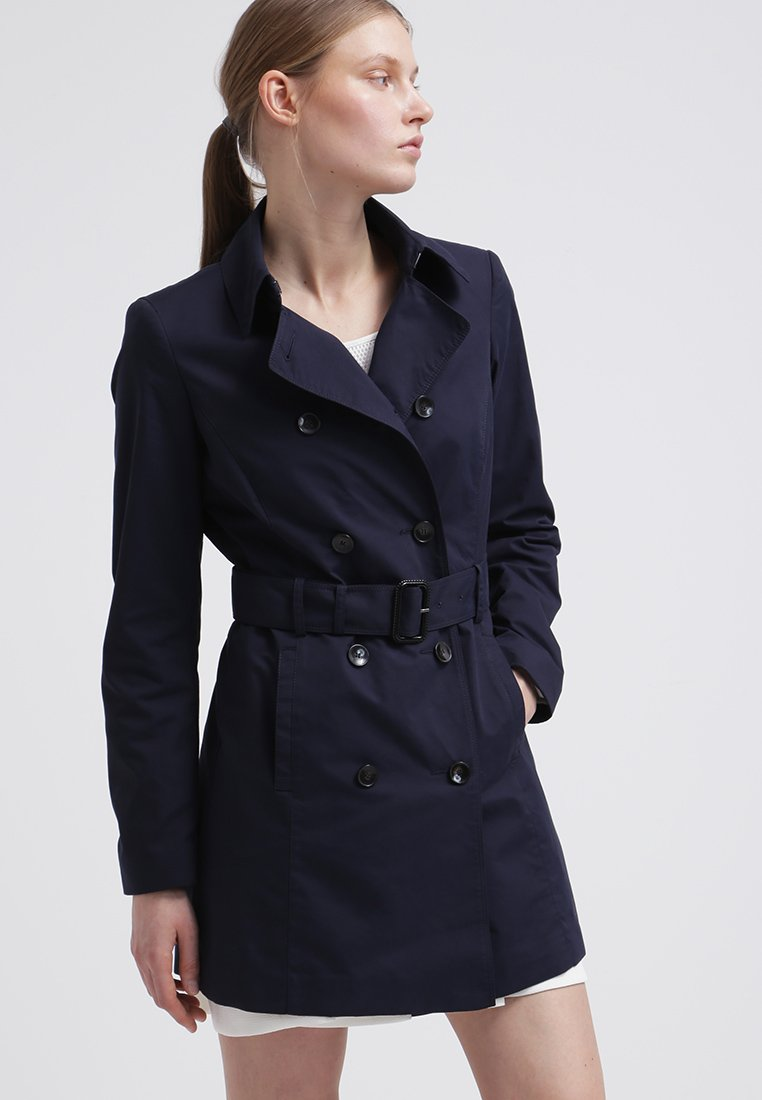 Trench di Benetton color navy 2015