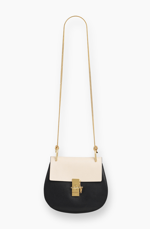 DREW SMALL BAG IN GRAINED CALFSKIN AND NAPPA LAMBSKIN black
