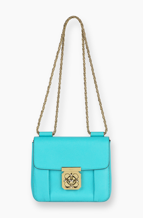 ELSIE BAG IN GRAINED LEATHER washed blue