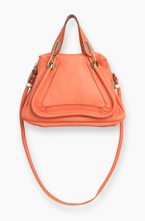 PARATY BAG IN GRAINED CALFSKIN coral pop
