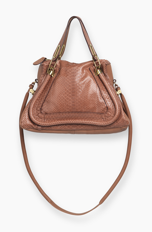 PARATY BAG IN PYTHON dusty rose