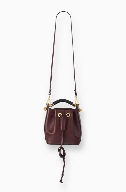 SMALL GALA BUCKET BAG IN SMOOTH CALFSKIN dark velvet